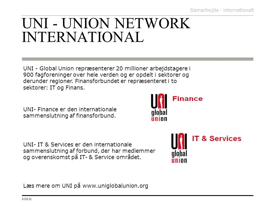 UNI - UNION NETWORK INTERNATIONAL
