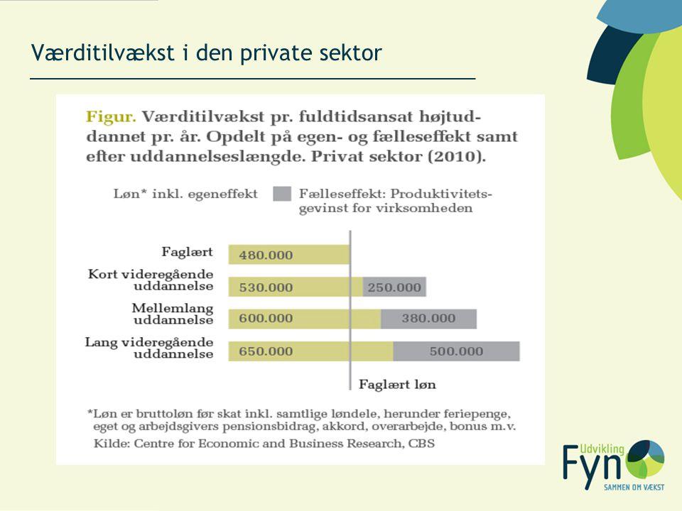 Værditilvækst i den private sektor