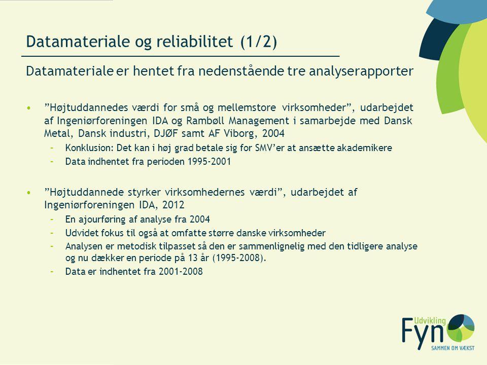 Datamateriale og reliabilitet (1/2)