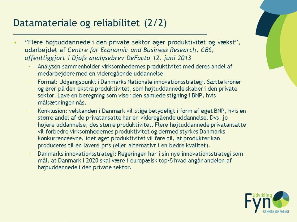 Datamateriale og reliabilitet (2/2)