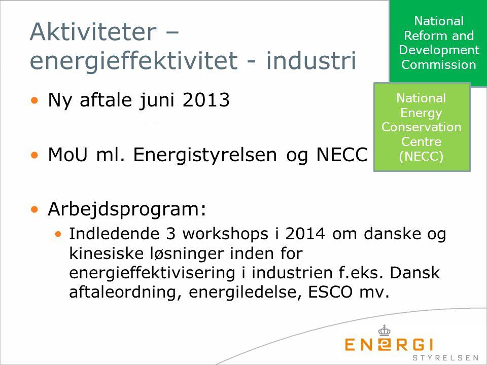 Aktiviteter – energieffektivitet - industri