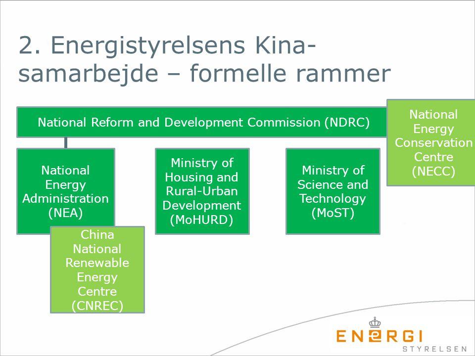 2. Energistyrelsens Kina-samarbejde – formelle rammer