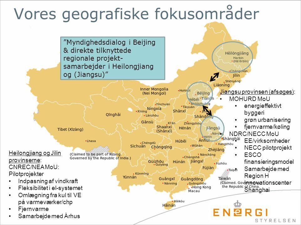 Vores geografiske fokusområder