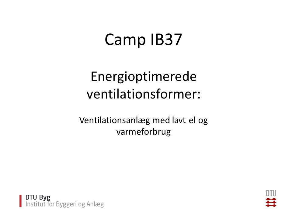 Camp IB37 Energioptimerede ventilationsformer: