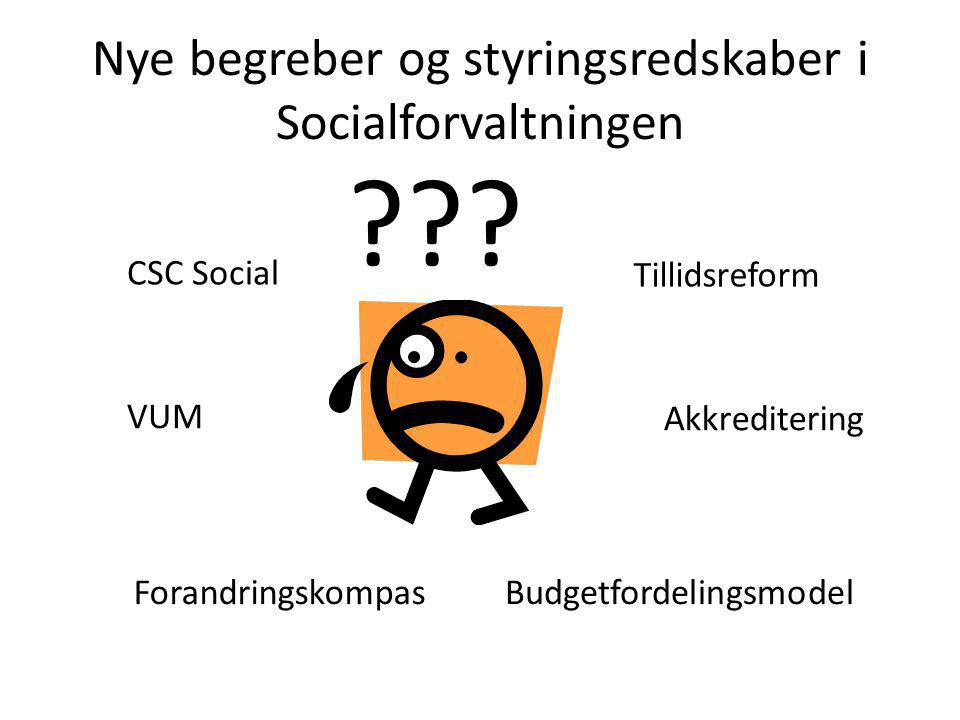 Nye begreber og styringsredskaber i Socialforvaltningen