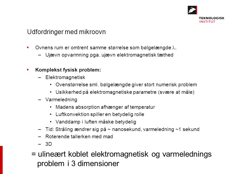 Udfordringer med mikroovn