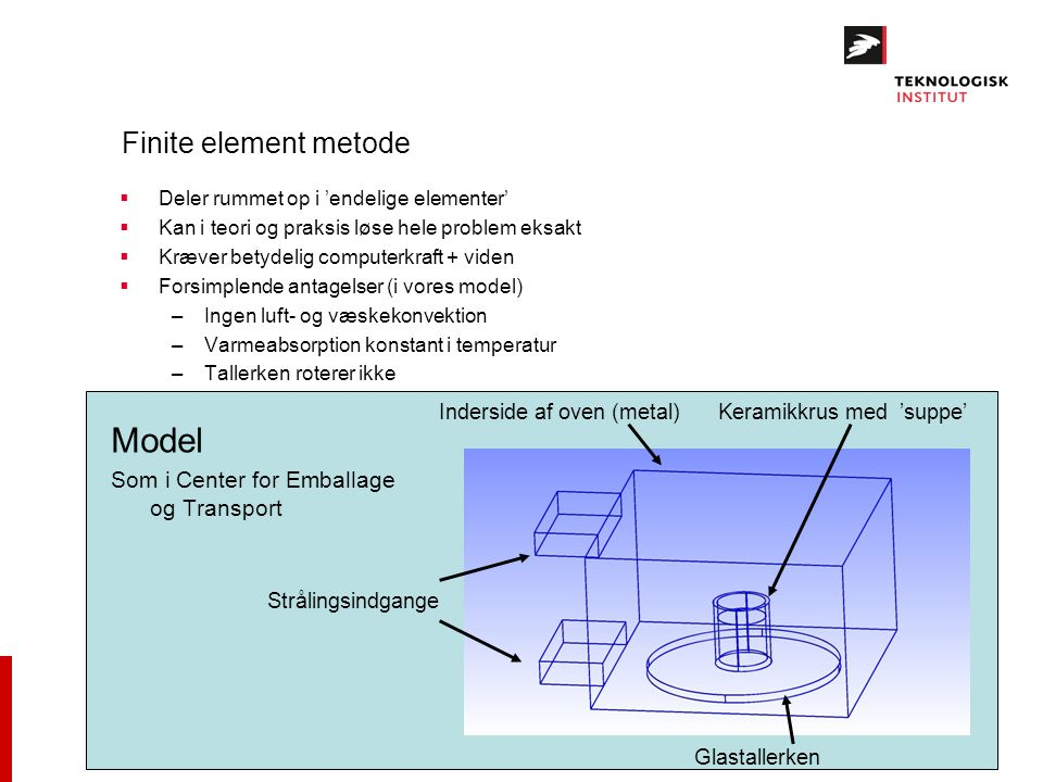 Model Finite element metode Som i Center for Emballage og Transport