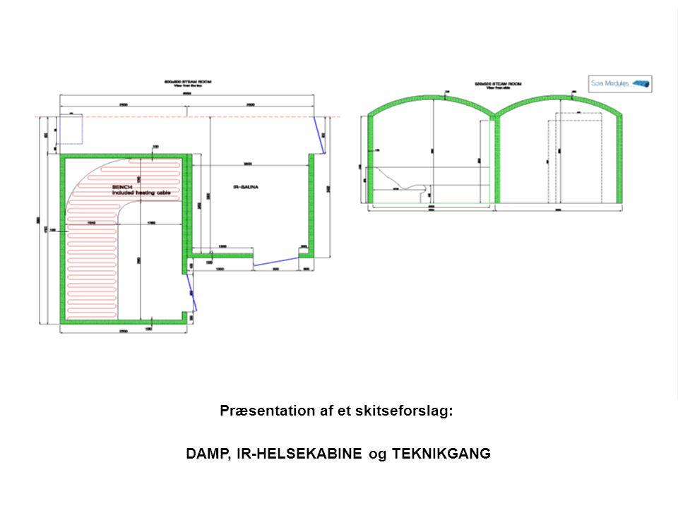 Præsentation af et skitseforslag: DAMP, IR-HELSEKABINE og TEKNIKGANG