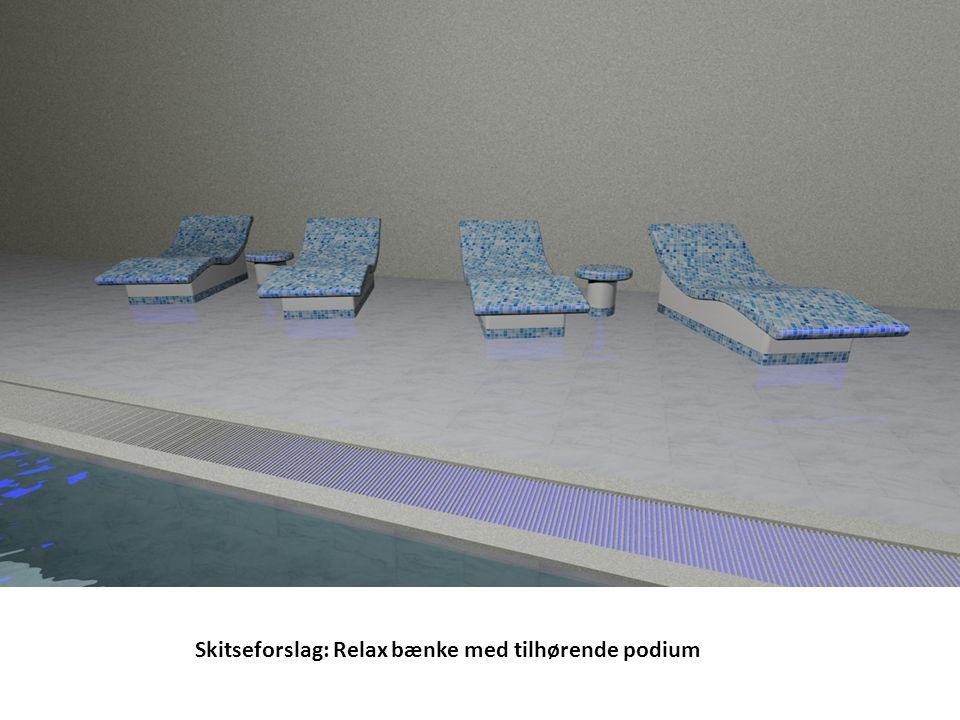 Skitseforslag: Relax bænke med tilhørende podium