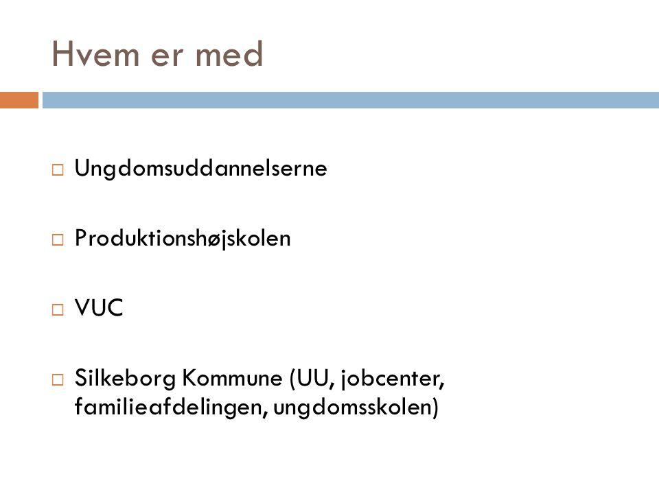 Hvem er med Ungdomsuddannelserne Produktionshøjskolen VUC