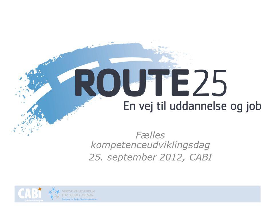 Fælles kompetenceudviklingsdag 25. september 2012, CABI