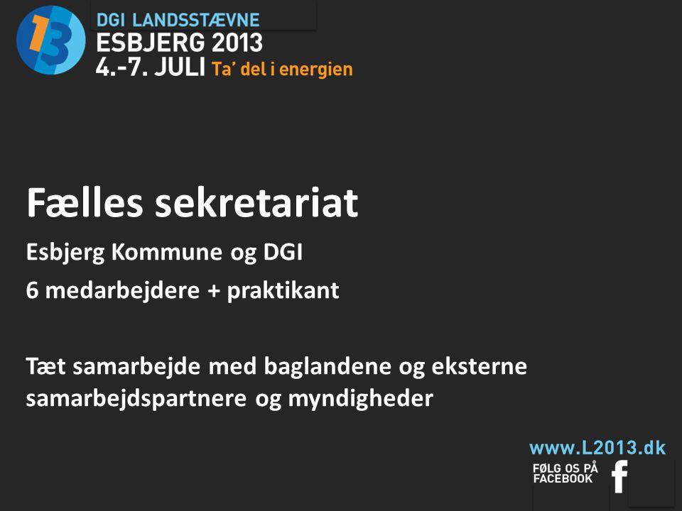 Fælles sekretariat Esbjerg Kommune og DGI 6 medarbejdere + praktikant