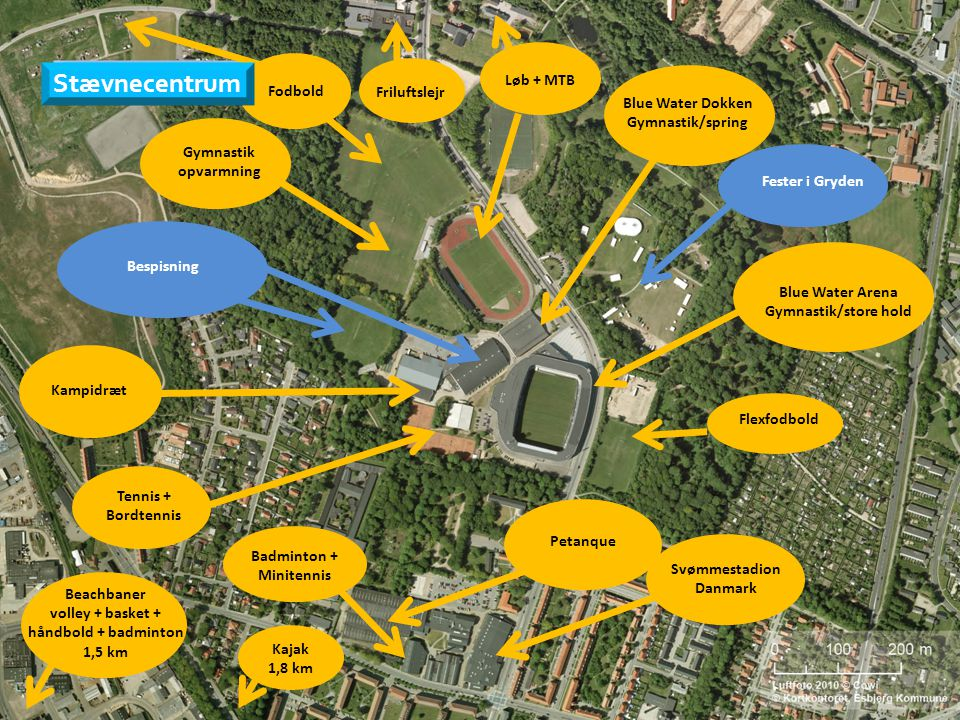 Svømmestadion Danmark volley + basket + håndbold + badminton