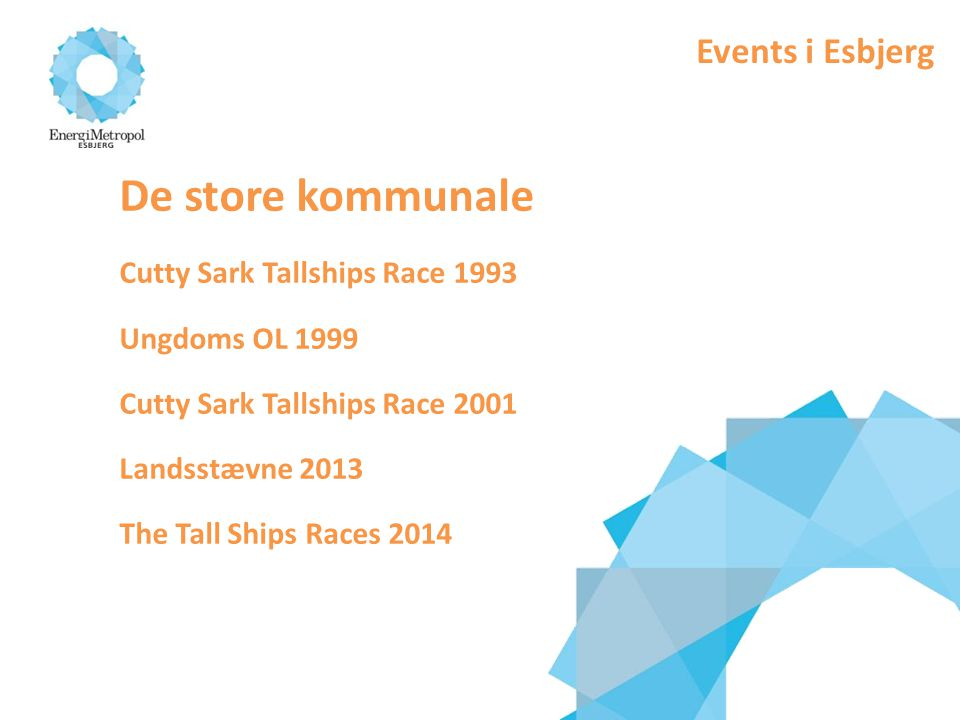De store kommunale Events i Esbjerg Cutty Sark Tallships Race 1993