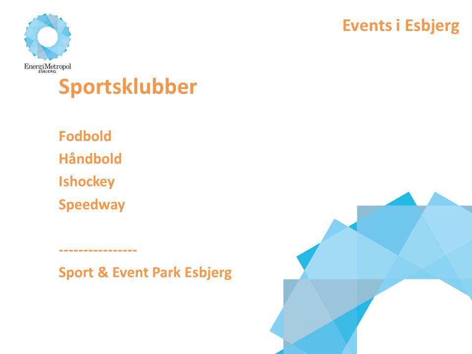 Sportsklubber Events i Esbjerg Fodbold Håndbold Ishockey Speedway