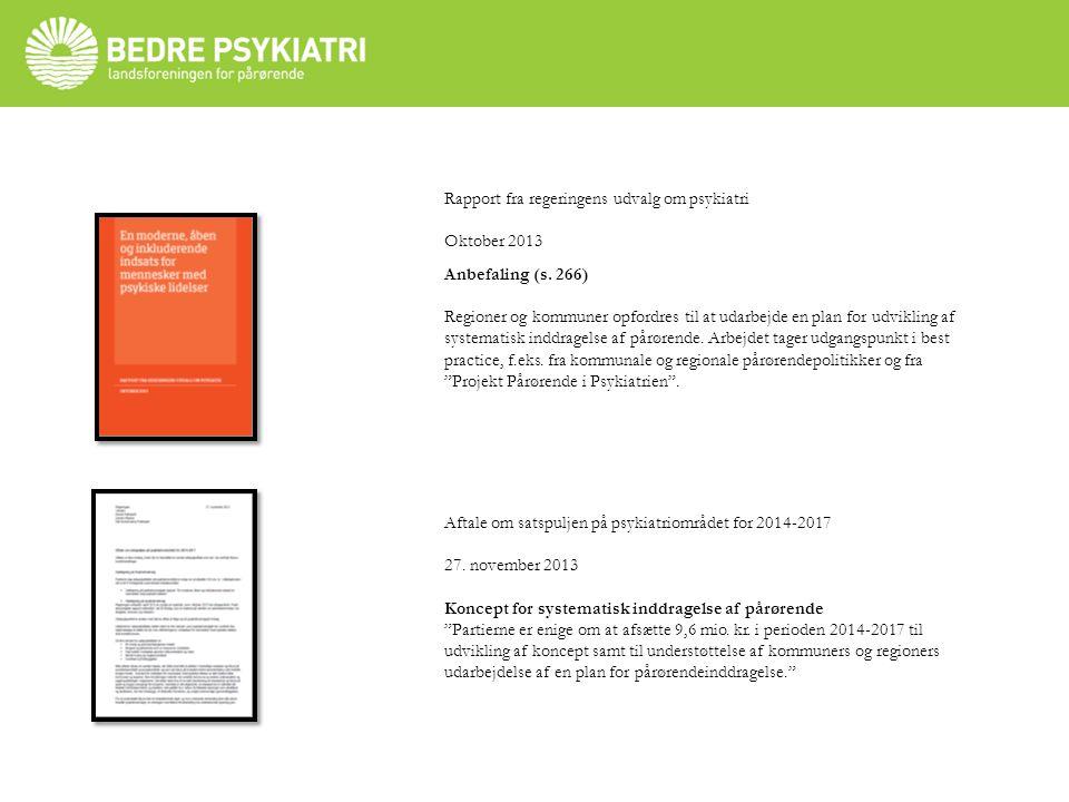 Rapport fra regeringens udvalg om psykiatri