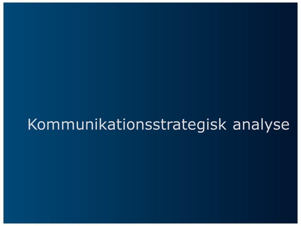 Kommunikationsstrategisk analyse