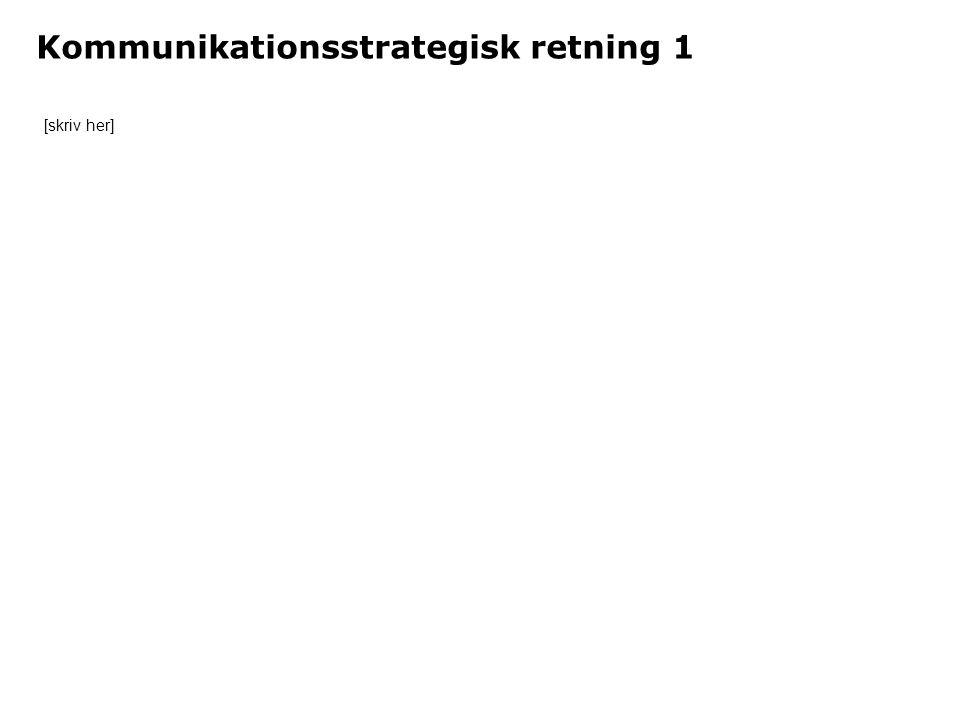 Kommunikationsstrategisk retning 1