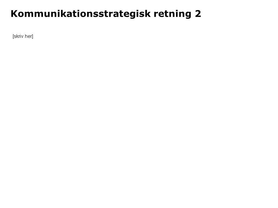 Kommunikationsstrategisk retning 2