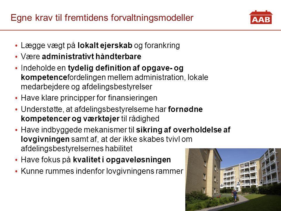 Egne krav til fremtidens forvaltningsmodeller