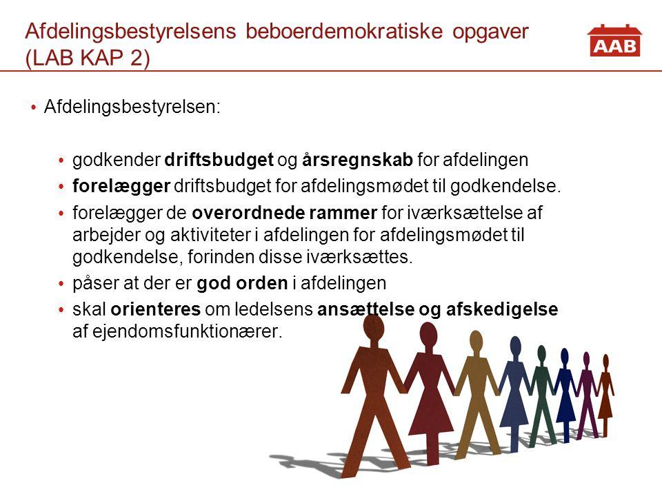 Afdelingsbestyrelsens beboerdemokratiske opgaver (LAB KAP 2)