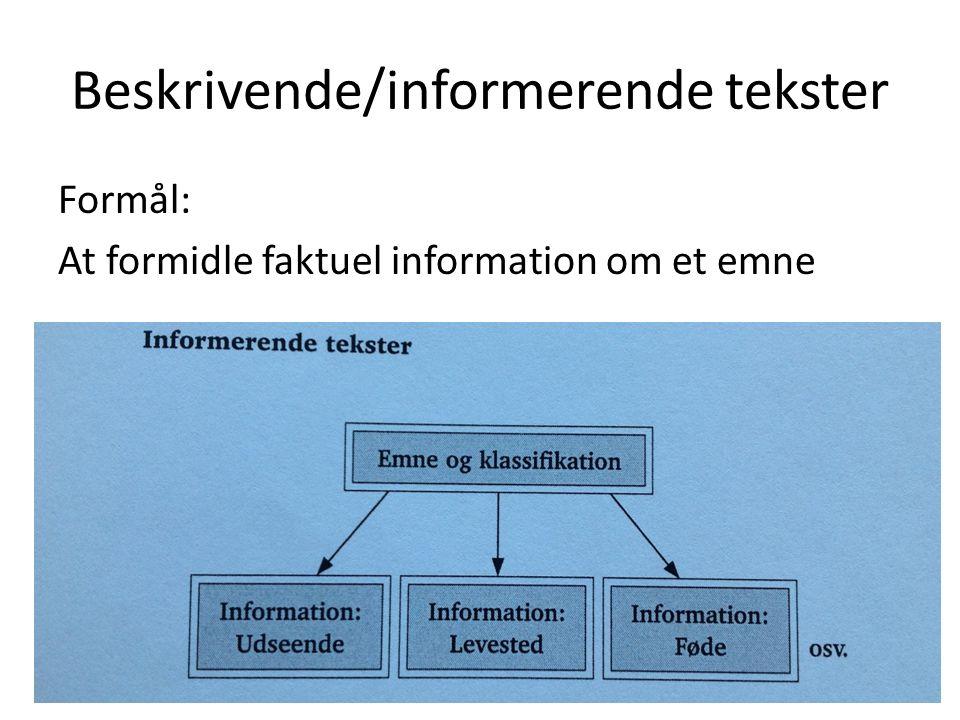 Beskrivende/informerende tekster