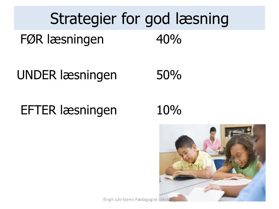 Strategier for god læsning