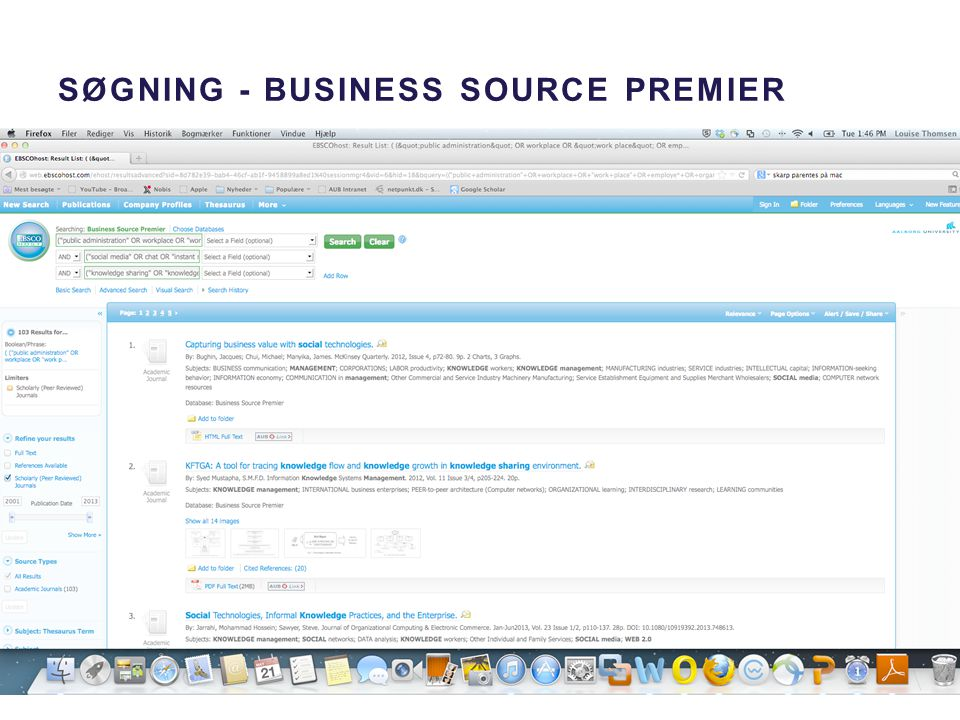 Søgning - Business source premier