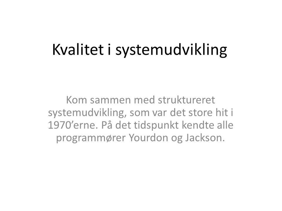 Kvalitet i systemudvikling