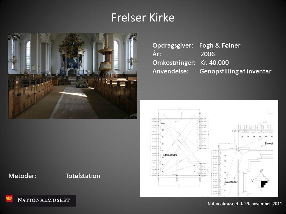 Frelser Kirke Opdragsgiver: Fogh & Følner År: 2006