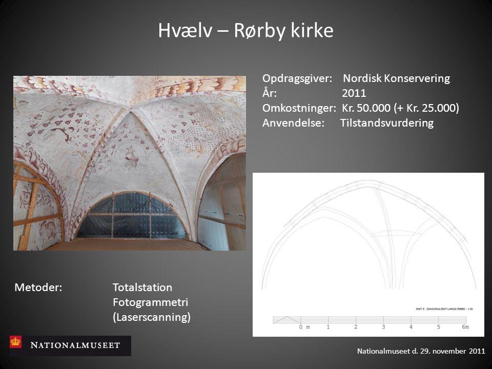 Hvælv – Rørby kirke Opdragsgiver: Nordisk Konservering År: 2011