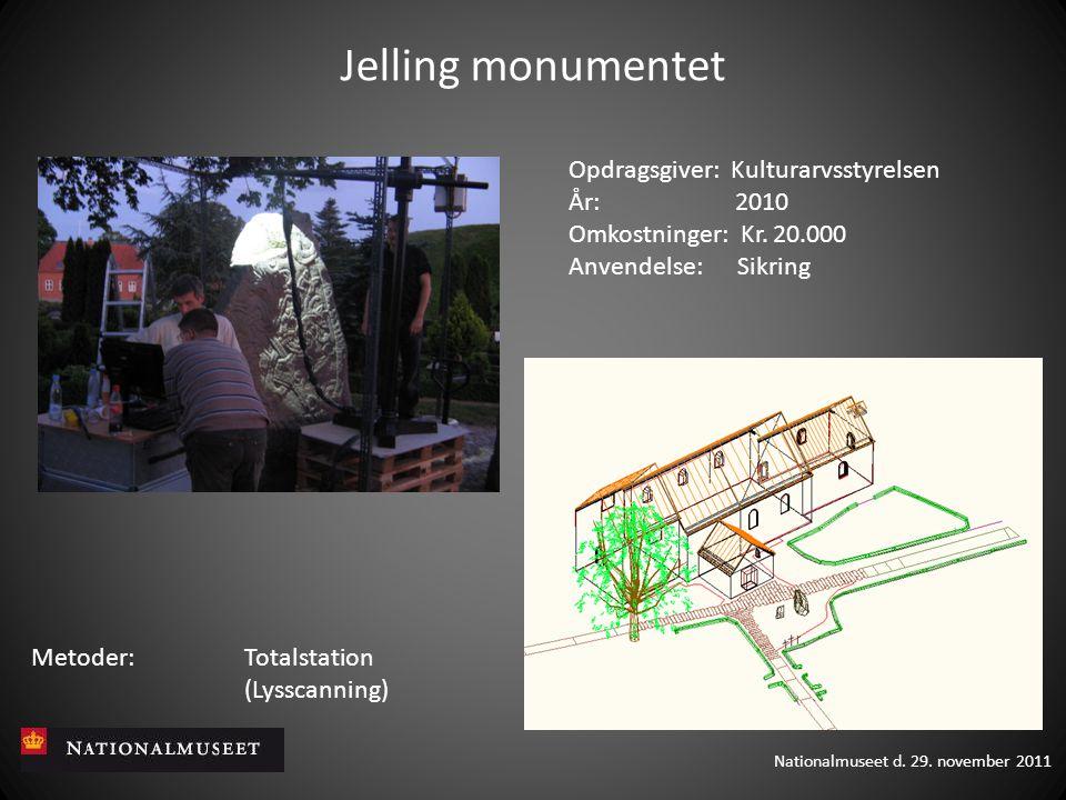 Jelling monumentet Opdragsgiver: Kulturarvsstyrelsen År: 2010