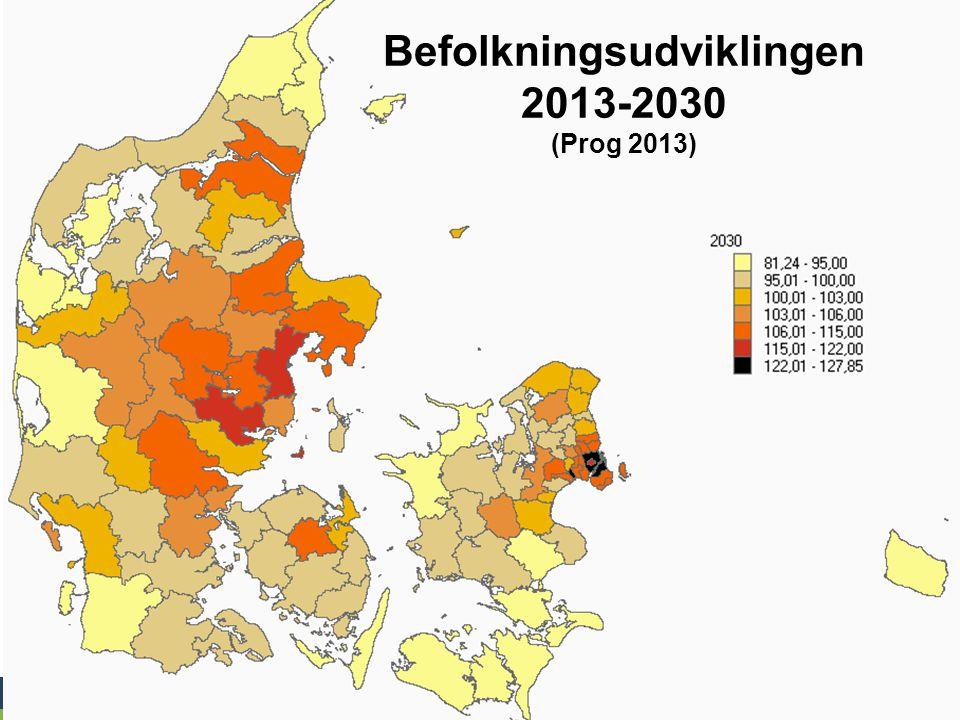 Befolkningsudviklingen 2013-2030 (Prog 2013)