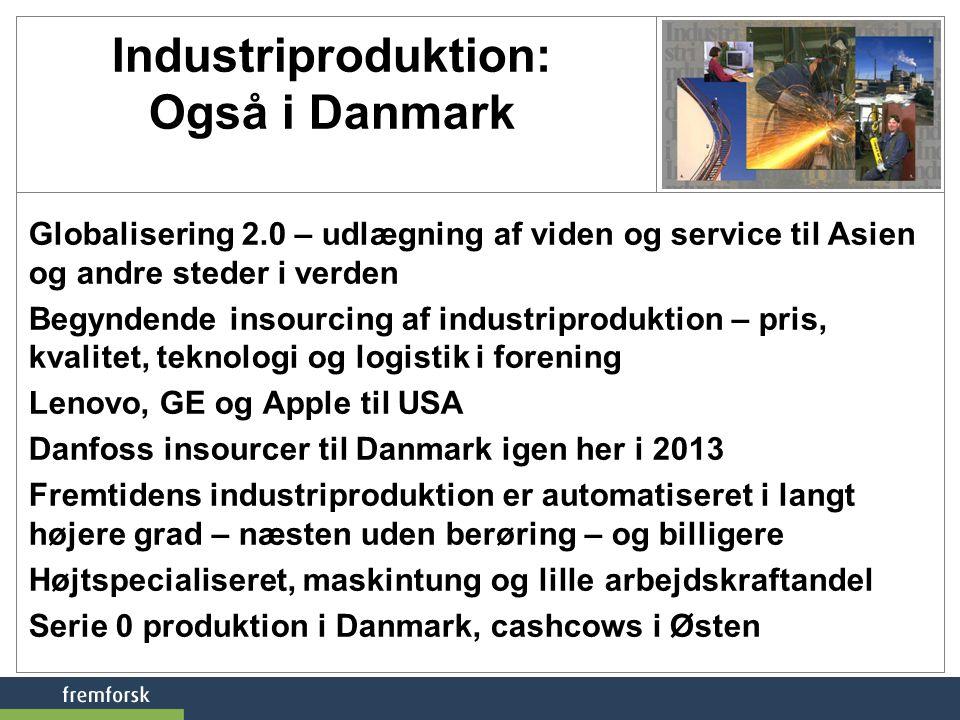 Industriproduktion: Også i Danmark