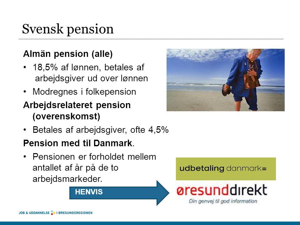 Svensk pension Almän pension (alle)