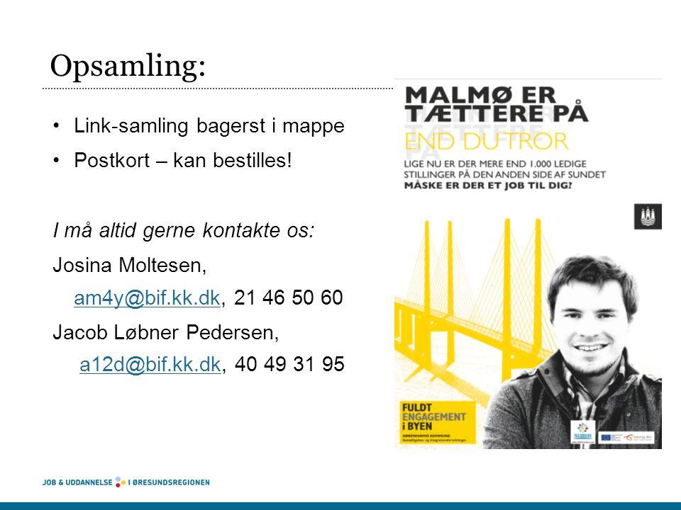Opsamling: Link-samling bagerst i mappe Postkort – kan bestilles!