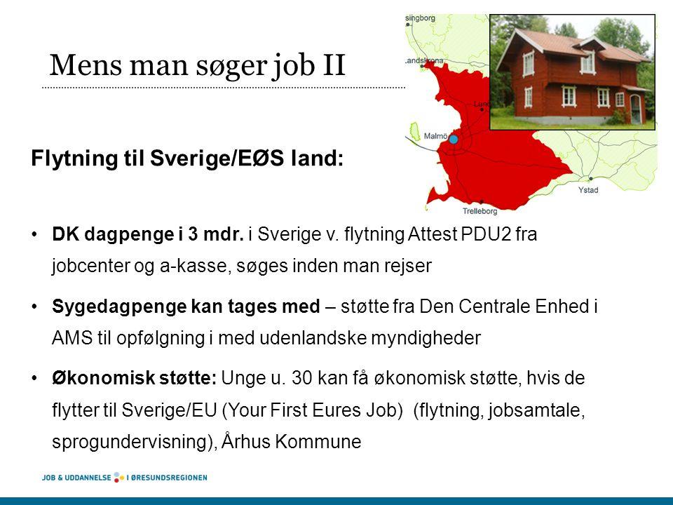 Mens man søger job II Flytning til Sverige/EØS land: