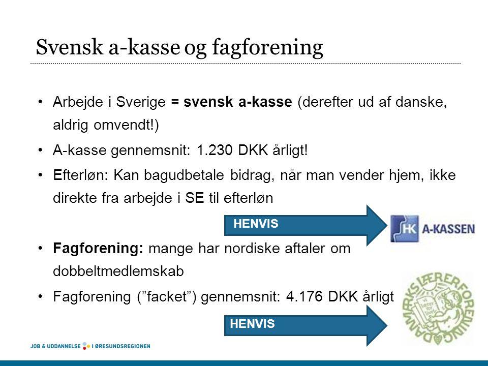 Svensk a-kasse og fagforening