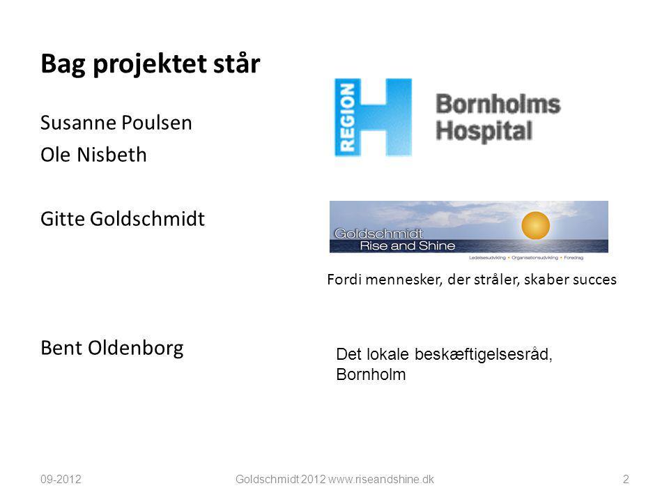 Bag projektet står Susanne Poulsen Ole Nisbeth Gitte Goldschmidt