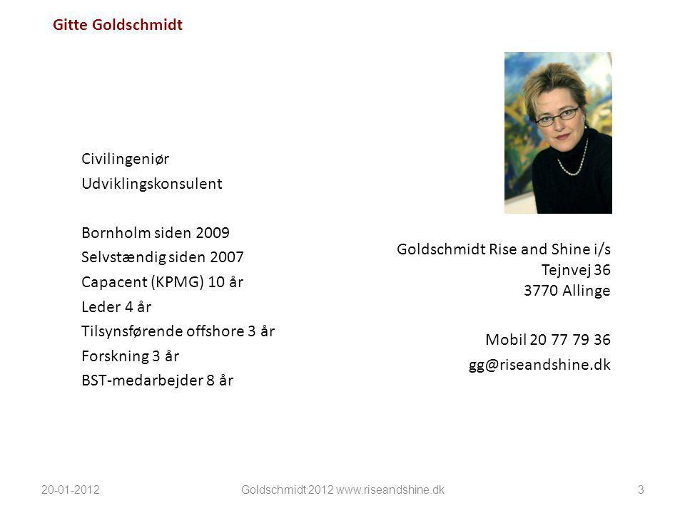Goldschmidt 2012 www.riseandshine.dk