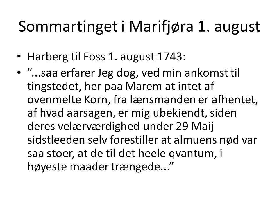 Sommartinget i Marifjøra 1. august
