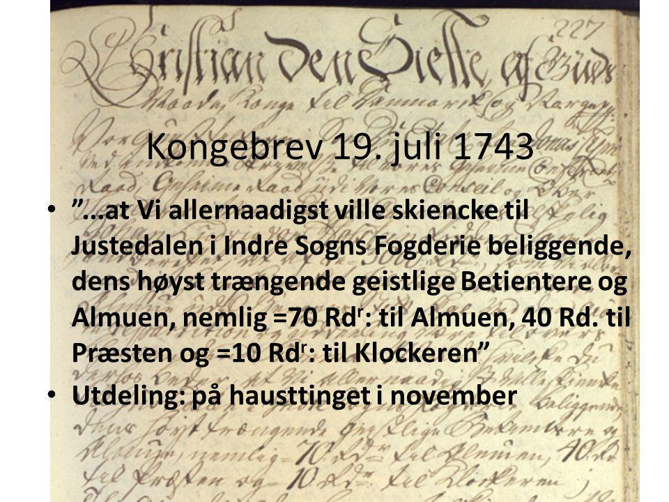 Kongebrev 19. juli 1743