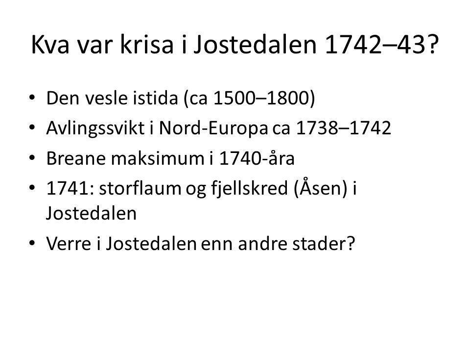 Kva var krisa i Jostedalen 1742–43