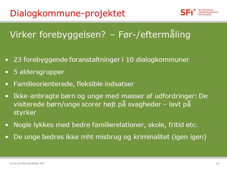 Dialogkommune-projektet Virker forebyggelsen – Før-/eftermåling