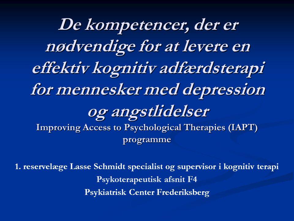 Psykoterapeutisk afsnit F4 Psykiatrisk Center Frederiksberg