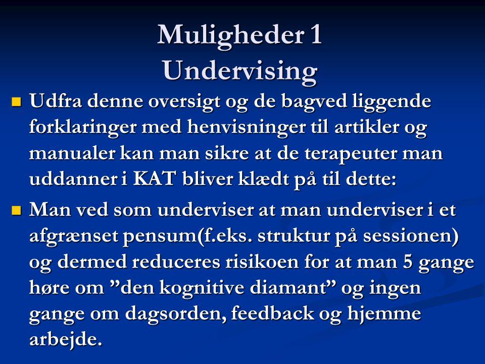 Muligheder 1 Undervising
