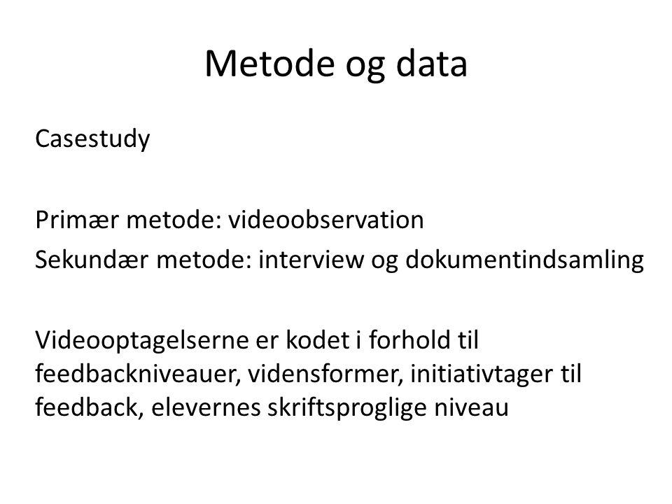 Metode og data