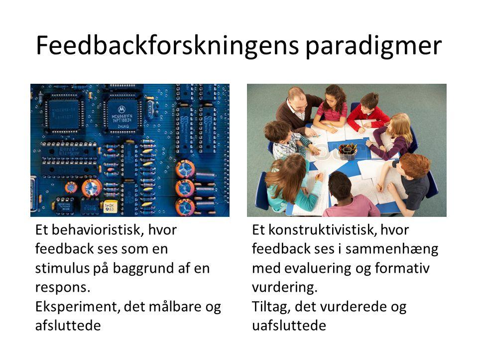 Feedbackforskningens paradigmer