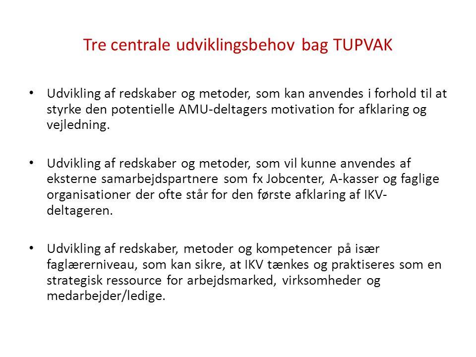 Tre centrale udviklingsbehov bag TUPVAK