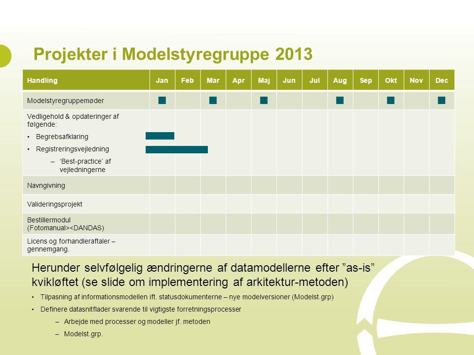 Projekter i Modelstyregruppe 2013